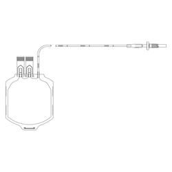 Transfer-Pack container with Coupler, 600 mL